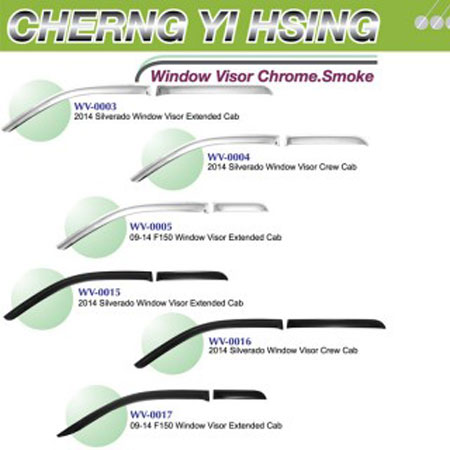 Window Visor Chrome.  Rook